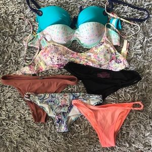 Victoria's secrete, pink, aerie bathing suits